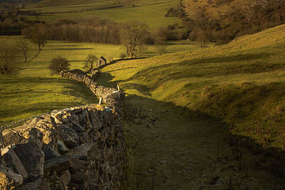 Late Evening In The Peak District Poster