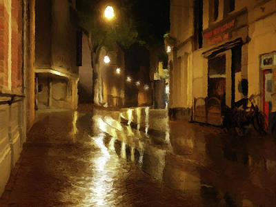 Poster featuring the photograph Late Evening Rain  by David Dehner