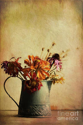 Late Fall Bouquet Poster by Elena Nosyreva