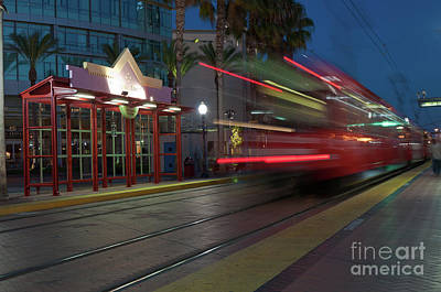 Late For The Trolley Poster by Eddie Yerkish