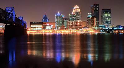 Late Night In Louisville Poster by Frozen in Time Fine Art Photography