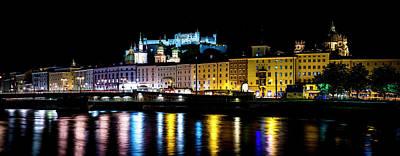 Late Night Stroll In Salzburg Poster