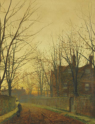 Late October Poster by John Atkinson Grimshaw