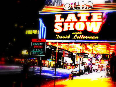 Late Show On Manhattan's Broadway Poster