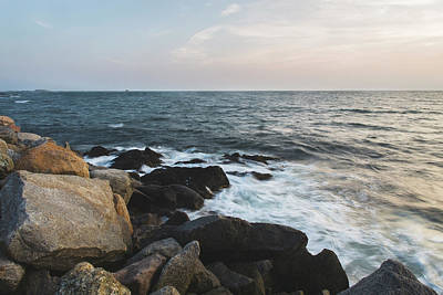 Late Summer Evening At Sakonnet Point Poster
