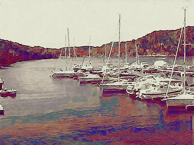 Late Summer Harbor Poster by Susan Maxwell Schmidt