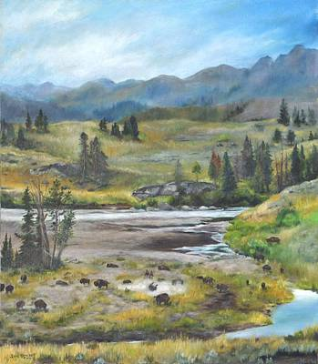 Late Summer In Yellowstone Poster by Lori Brackett