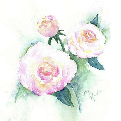 Late Summer Roses Poster