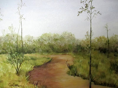Poster featuring the painting Late Summer Walk by Roseann Gilmore