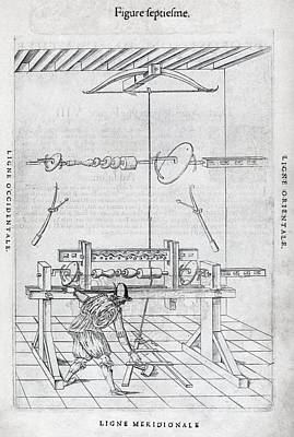 Lathe, 16th Century Artwork Poster by Middle Temple Library
