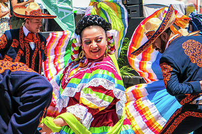 Poster featuring the photograph Latino Street Festival Dancers by Robert Bellomy
