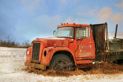 Poster featuring the photograph Latsha Lumber Truck by Lori Deiter