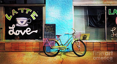 Latte Love Bicycle Poster