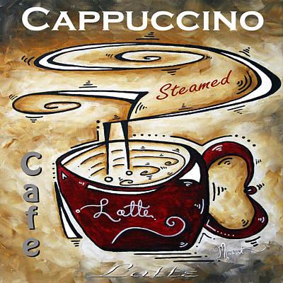 Latte Original Painting Madart Poster by Megan Duncanson