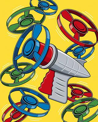 Launcher Gun Poster
