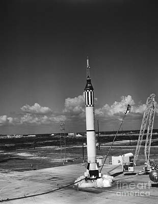 Launching Of The Mercury-redstone 3 Poster