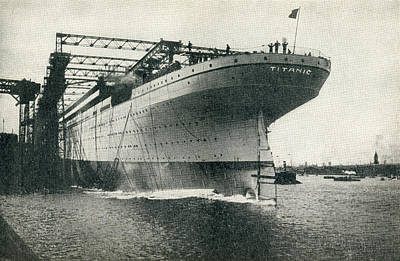 Launching Of The Rms Titanic Of The Poster