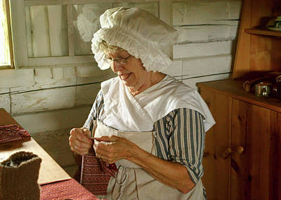 Poster featuring the photograph Laundress - Mending by Nikolyn McDonald