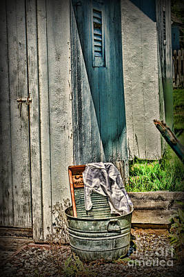 Laundry Day The Old Fashion Way Poster by Paul Ward
