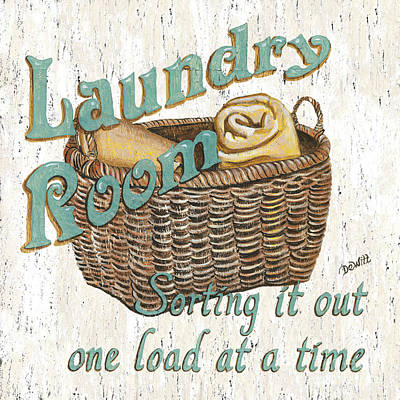 Laundry Room Sorting It Out Poster by Debbie DeWitt