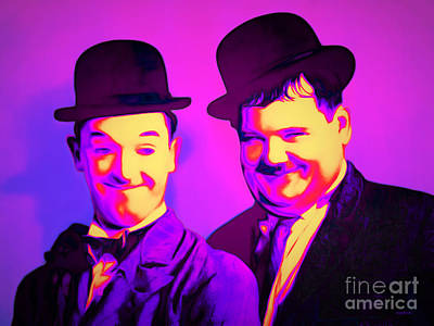 Laurel And Hardy 20160102 Poster by Wingsdomain Art and Photography