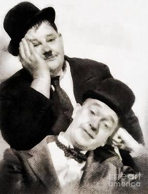 Laurel And Hardy, Vintage Comedians Poster
