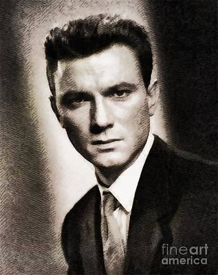Laurence Harvey, Vintage Actor By John Springfield Poster by John Springfield