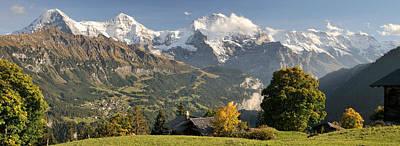 Lauterbrunnen Valley With Mt Eiger, Mt Poster