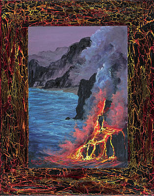Poster featuring the painting Lava Flow by Darice Machel McGuire