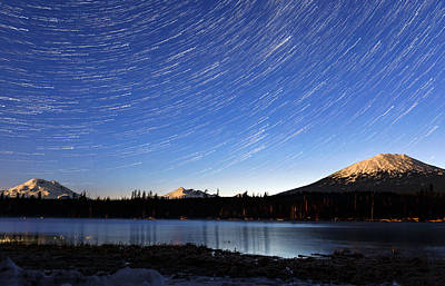 Poster featuring the photograph Lava Lake Star Trails by Cat Connor