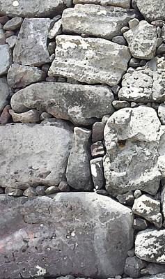 Lava Rock Wall 1 Triptych L Poster