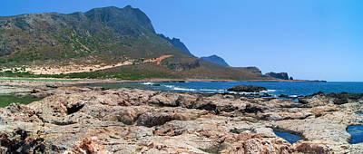 Lava Rocks Of Balos Poster