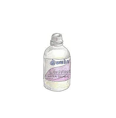 Lavender Bottle Poster