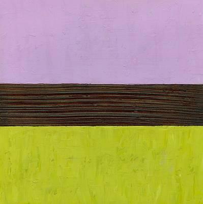 Lavender Brown Olive Poster by Michelle Calkins