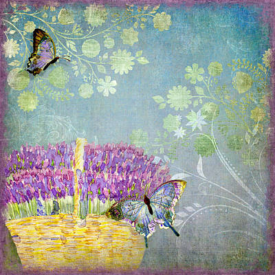 Lavender Dreams Poster by Audrey Jeanne Roberts