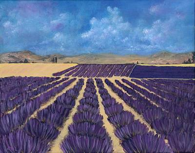 Poster featuring the painting Lavender Field by Anastasiya Malakhova