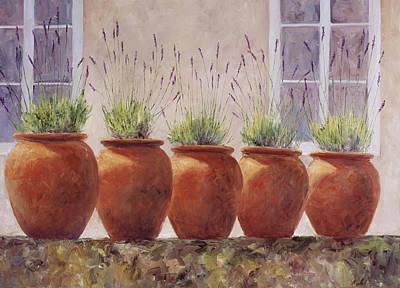 Lavender Garden Poster by Jill Musser