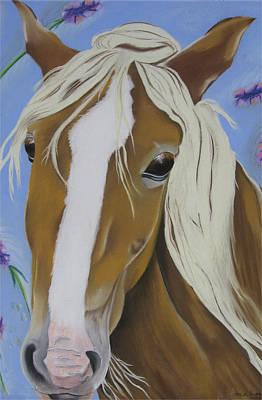 Lavender Horse Poster by Michelle Hayden-Marsan