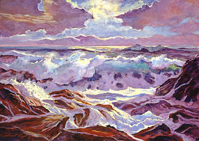 Lavender Ocean Poster by David Lloyd Glover