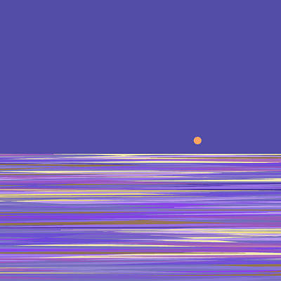Poster featuring the digital art Lavender Sea by Val Arie