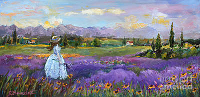Poster featuring the painting Lavender Splendor  by Jennifer Beaudet
