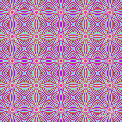 Lavender Sun Fractal Pattern Poster by Marv Vandehey