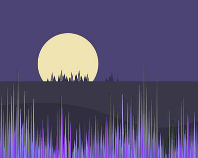 Poster featuring the digital art Lavender Twilight by Val Arie