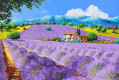 Lavender Under Sunshine Poster by Jean Marc Janiaczyk
