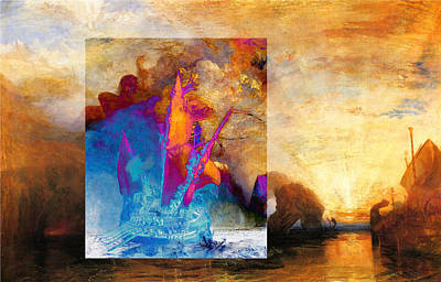 Poster featuring the digital art Layered 6 Turner by David Bridburg