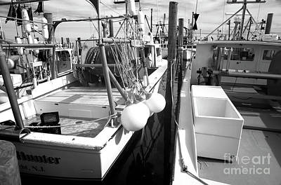 Lbi Fishing Boats Infrared Poster by John Rizzuto