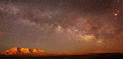Lchee Rock Milky Way Panorama Poster