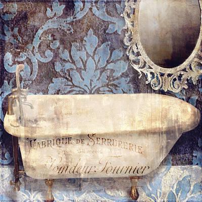 Le Bain Paris Blue Poster
