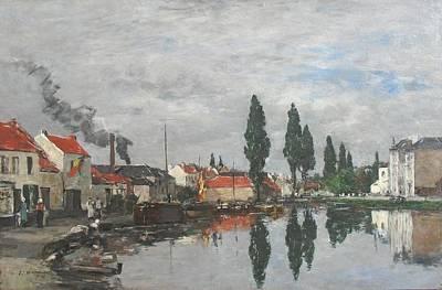 Le Canal De Louvain Poster by MotionAge Designs