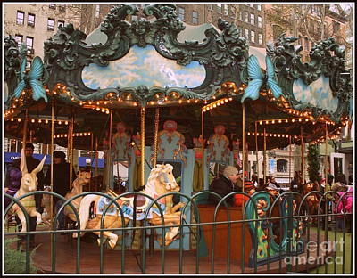 Le Carrousel In Bryant Park, New York City Poster by Dora Sofia Caputo Photographic Art and Design